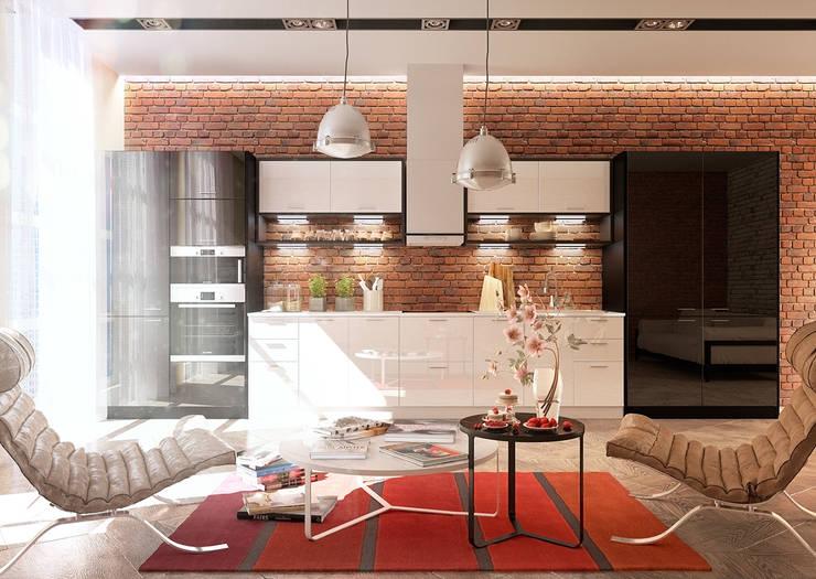 Cucina in stile in stile Industriale di Дмитрий Каючкин