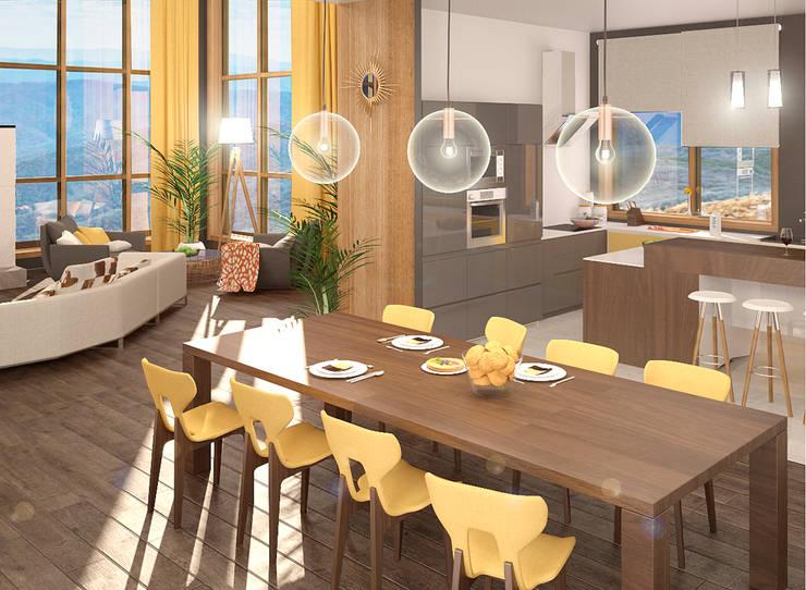 Дом: Столовые комнаты в . Автор – Chloe Design & Decor/Anastasia Baskakova,