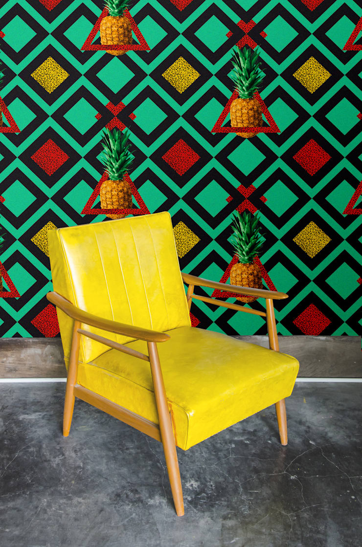 Papier peint Martika - Collection TUTTI FRUTTI: Murs & Sols de style  par MUES design