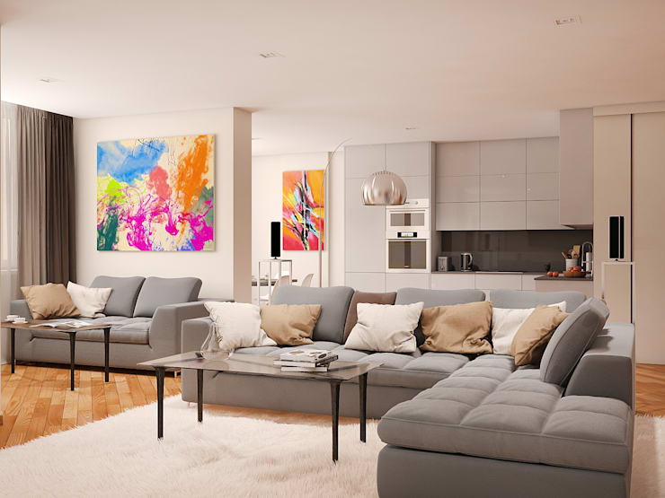 Tatiana Zaitseva Design Studio:  tarz Oturma Odası
