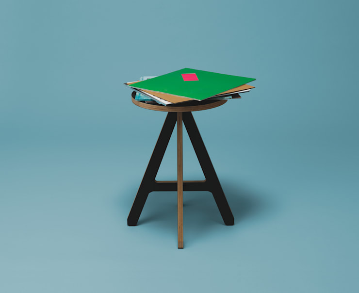 byALEX - 'A' Stool in Black:  Living room by Edited