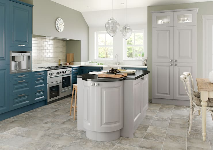 Harvard Heritage Blue and Grey:  Kitchen by Sigma 3 Kitchens