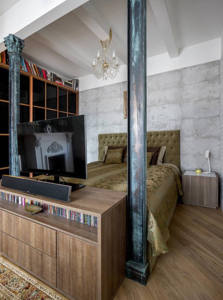 Спасский Лофт: Спальни в . Автор – Дизайн-студия 'Вердиз'