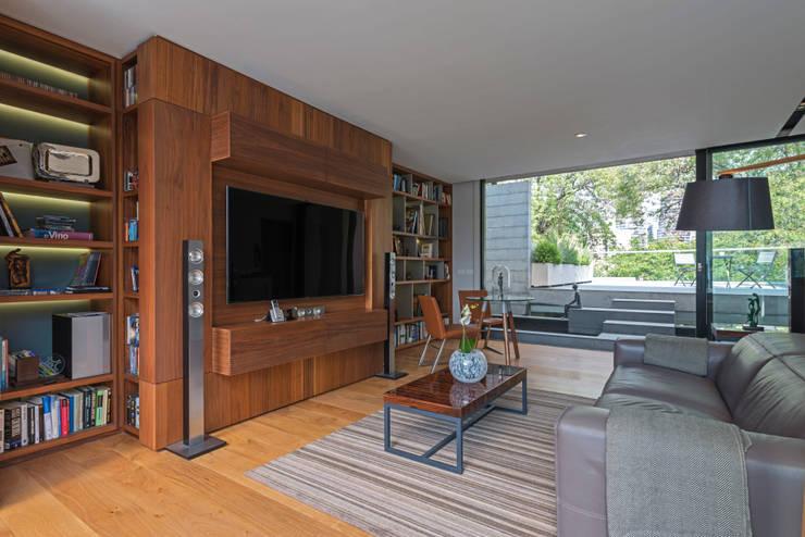 Salas de estar modernas por Faci Leboreiro Arquitectura