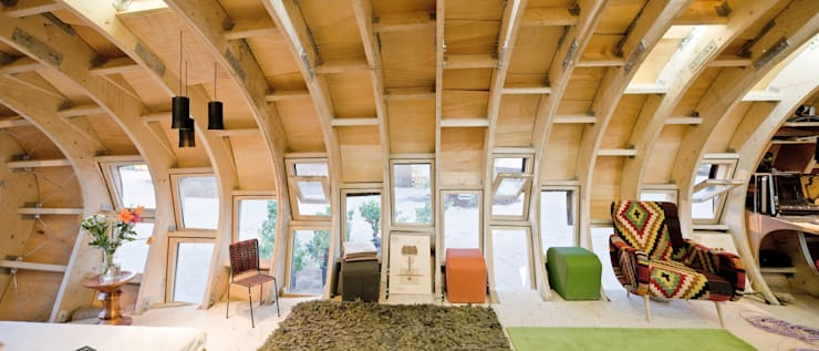 FabLabHouse#01 équipe IaaC: Salle à manger de style  par [ADitude*] Architecture