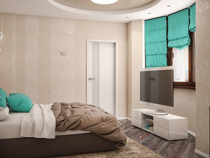 Минималистичный интерьер с яркой детской: Спальни в . Автор – Tatiana Zaitseva Design Studio