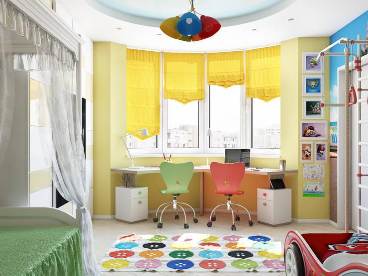 Минималистичный интерьер с яркой детской: Детские комнаты в . Автор – Tatiana Zaitseva Design Studio