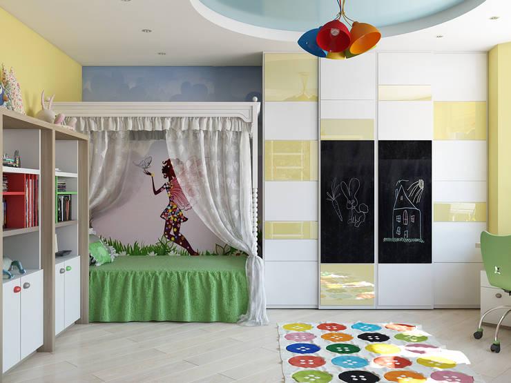 Recámaras infantiles de estilo  por Tatiana Zaitseva Design Studio