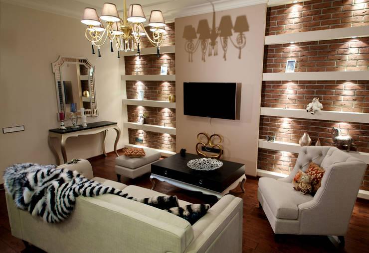 Квартира на Крупской : Гостиная в . Автор – Дизайн-студия «ARTof3L»,