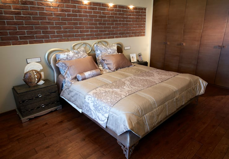 Квартира на Крупской : Спальни в . Автор – Дизайн-студия «ARTof3L»,