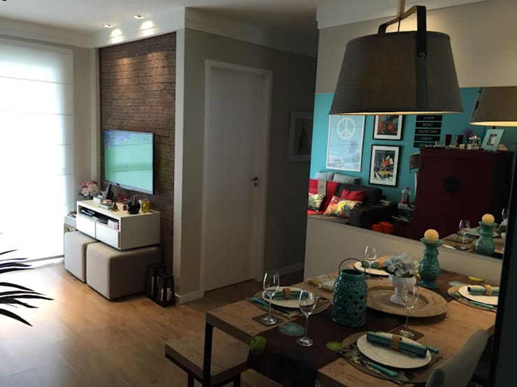 Salas Integradas: Salas de estar modernas por Vitor Dias Arquitetura