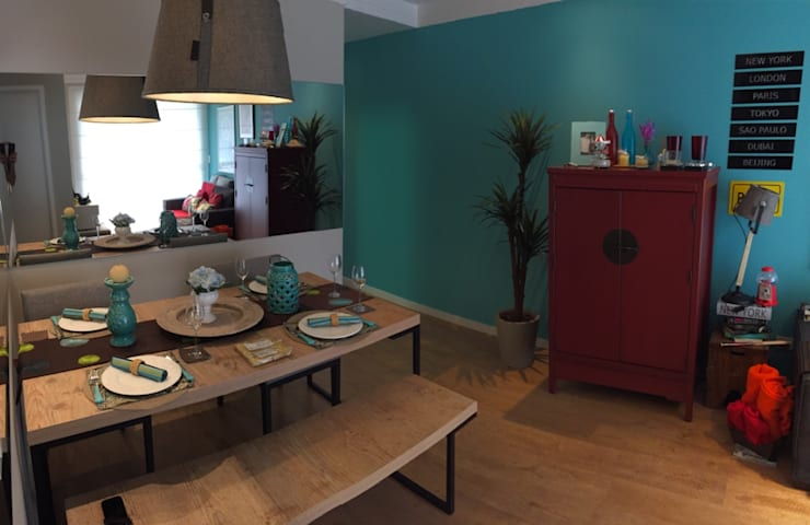 Sala de Jantar: Salas de jantar  por Vitor Dias Arquitetura