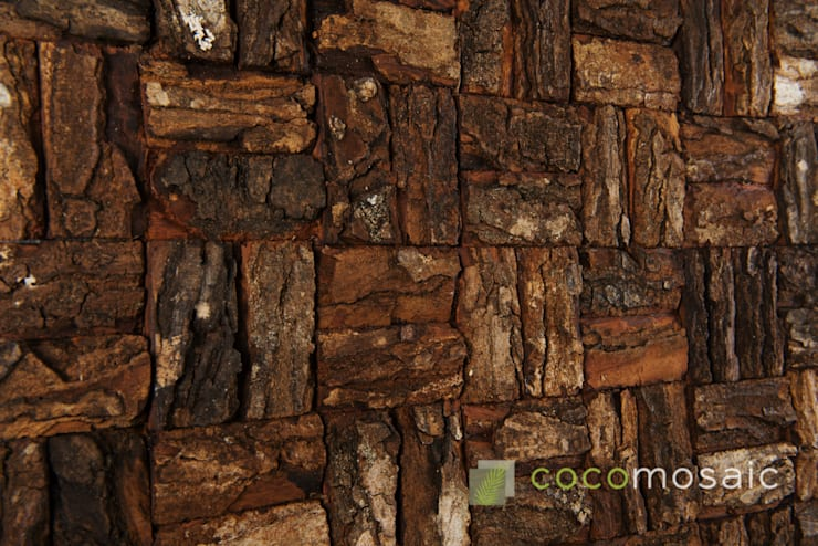 Cocomosaic | Wooden bark Large:  Muren & vloeren door Nature at home | Cocomosaic | Wood4Walls