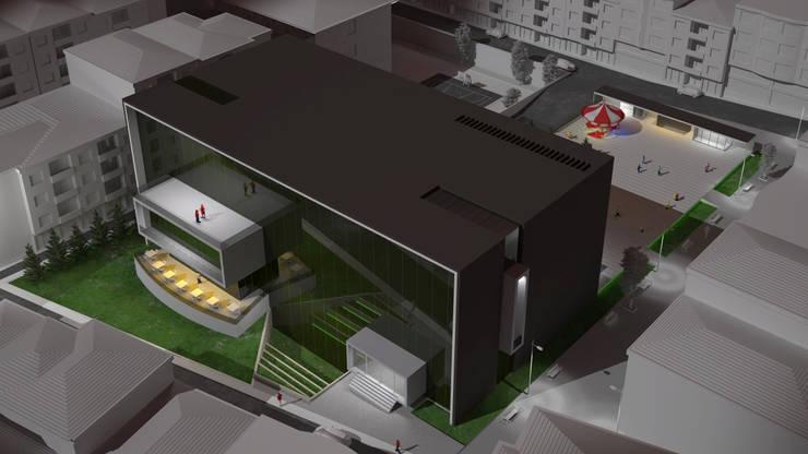 BATUBA Mimarlık Restorasyon Danışmanlık  – GAZİOSMANPAŞA KÜLTÜR MERKEZİ:  tarz Etkinlik merkezleri, Modern