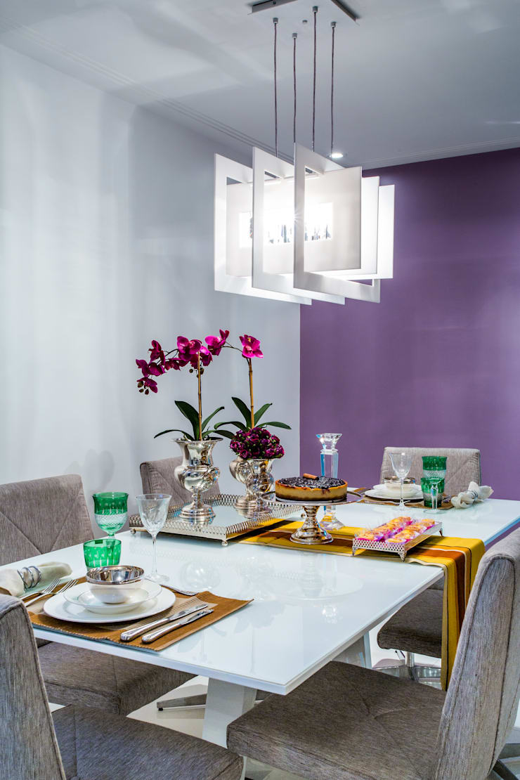 Sala Jantar: Salas de jantar  por Milla Holtz Arquitetura