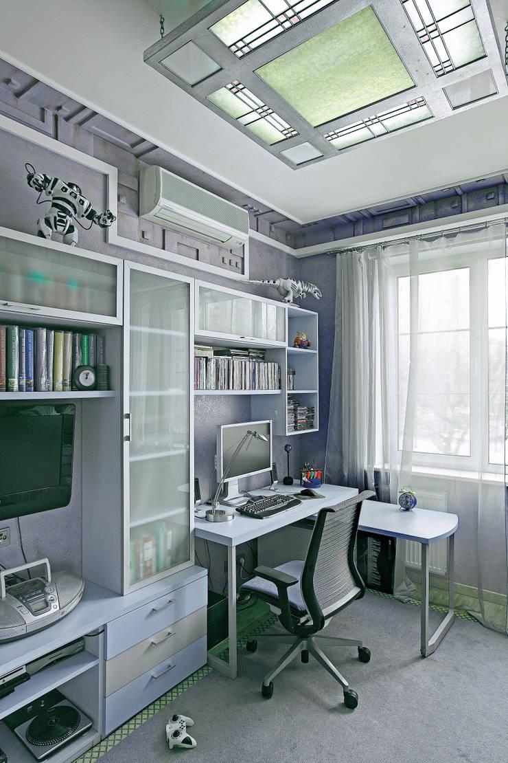 Cовременный интерьер с художественными деталями.: Детские комнаты в . Автор – D&T Architects