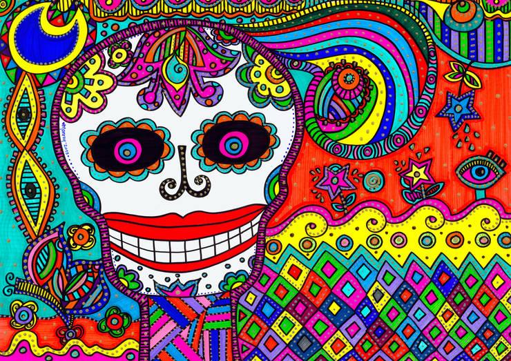 La muerte esta de fiesta: Arte de estilo  por Bianca Monroy