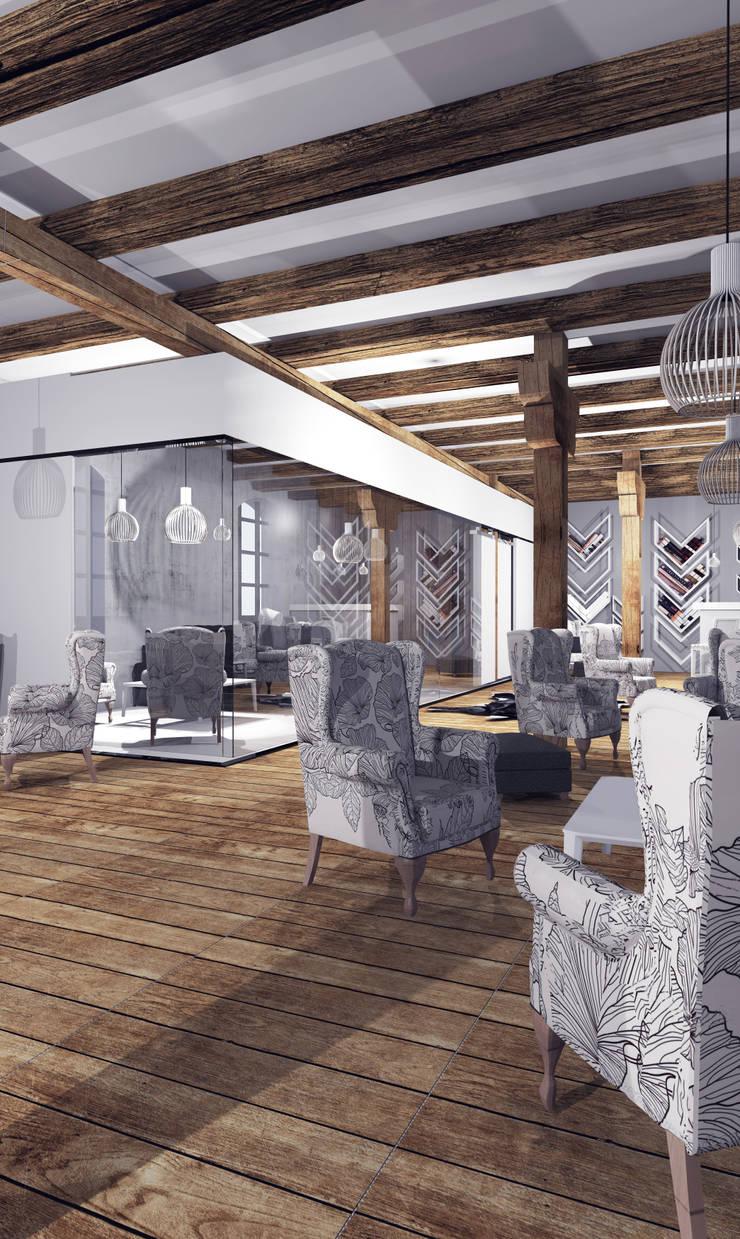 Restauracja Stary Młyn: styl , w kategorii Miejsca na imprezy zaprojektowany przez FOORMA Pracownia Architektury Wnętrz,Rustykalny