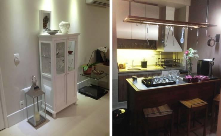 Sala de Jantar e Churrasqueira Salas de jantar modernas por Vitor Dias Arquitetura Moderno