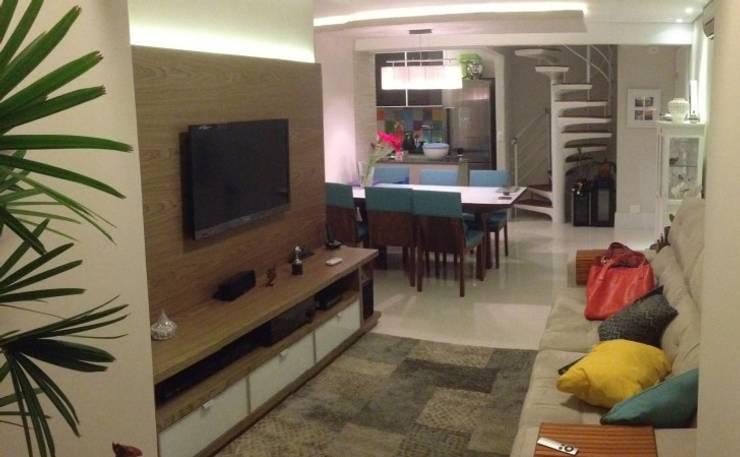Salas de Tv e Jantar Salas de estar modernas por Vitor Dias Arquitetura Moderno