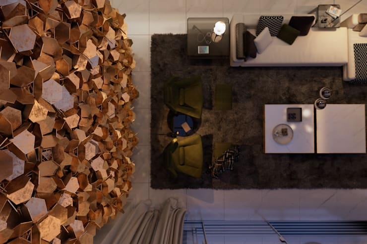 A J villa. Sardinia, Italy: Гостиная в . Автор – Diff.Studio,