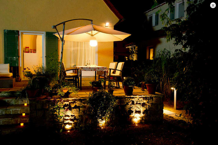 Terrassenbeleuchtung:  Terrasse von jack be nimble  - lighting | design | innovation