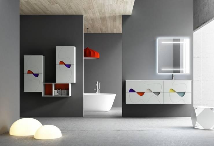 BAÑOS: Baños de estilo moderno de MUEBLES OYAGA