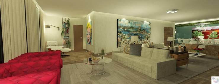 O Cantinho de Leitura: Salas de estar  por Rangel & Bonicelli Design de Interiores Bioenergético,Moderno