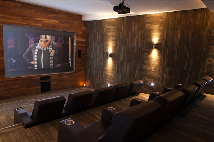 Residencial Vivalto: Salas multimedia de estilo  por Grupo Nodus Arquitectos