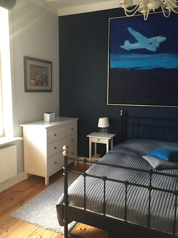 Apartament – Sopot: styl , w kategorii Sypialnia zaprojektowany przez t
