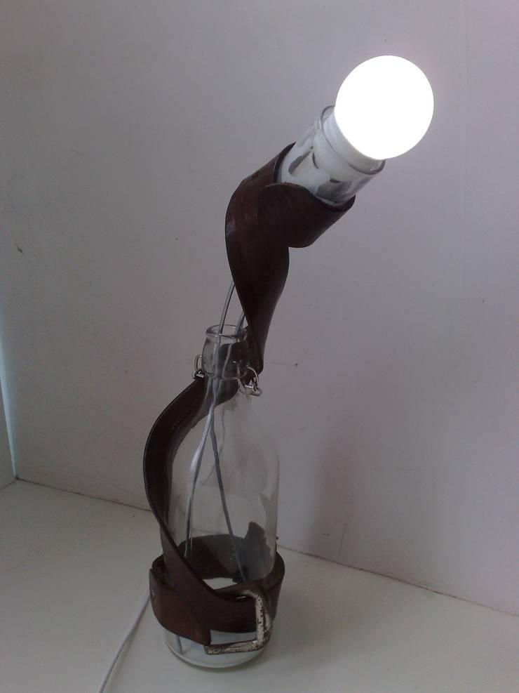 """Настольная лампа """"Папин набор"""" (бутылка, рюмка, ремень): Произведения искусства в . Автор – tanya zaichenko"""