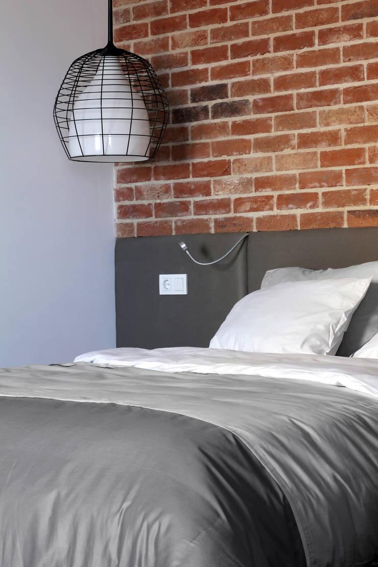 Однушка: Спальни в . Автор – Lugerin Architects, Скандинавский