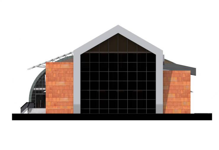 Юго-восточный фасад: Дома в . Автор – CHM architect