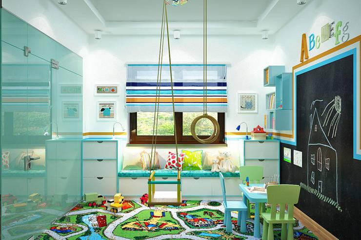 Идеальная игровая комната для малышей: Детские комнаты в . Автор – Студия дизайна Interior Design IDEAS