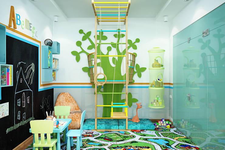 Habitaciones infantiles de estilo  por Студия дизайна Interior Design IDEAS