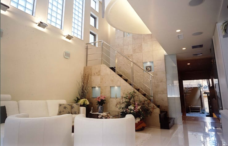 四季を満喫できる和モダンな住宅 オリジナルデザインの リビング の 一級建築士事務所 (有)BOFアーキテクツ オリジナル