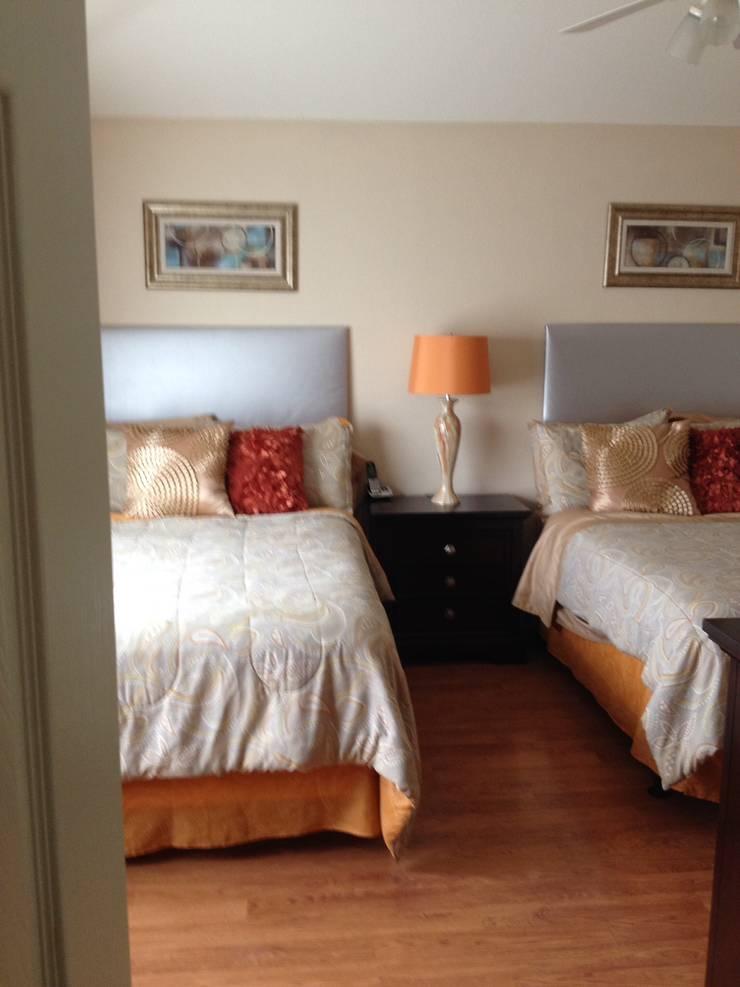 Cto principal naranja: Recámaras de estilo  por Helio interiores Tehuacan