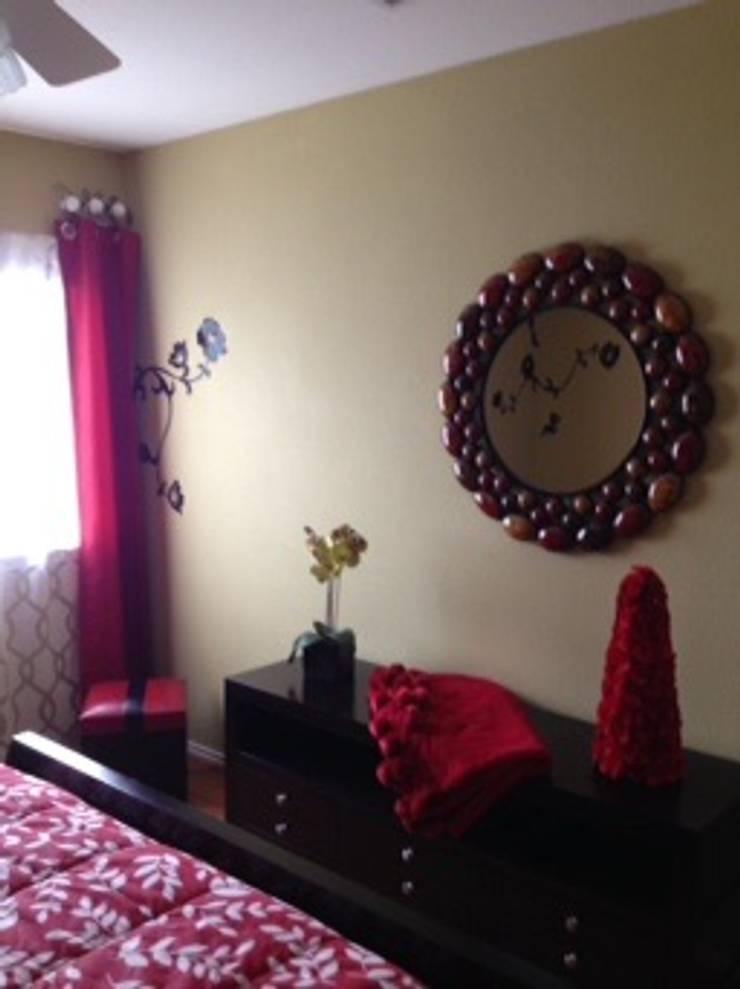 Casa de descanso San Antonio, Tx: Recámaras de estilo  por Helio interiores Tehuacan