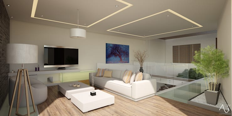 minimalistic Media room by 21arquitectos