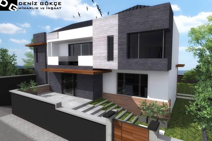 Deniz Gökçe Mimarlık ve İnşaat – Villa tasarımları | Villa Design:  tarz Evler