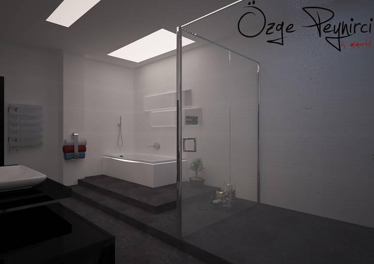 Deniz Gökçe Mimarlık ve İnşaat – Banyo Tasarım | Bathroom Design:  tarz Banyo