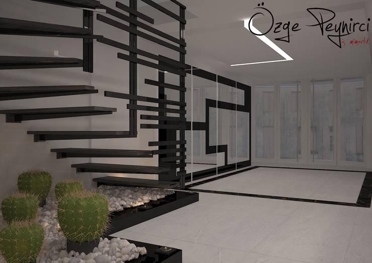 Deniz Gökçe Mimarlık ve İnşaat – Giriş Tasarım | Entrance Design: modern tarz Koridor, Hol & Merdivenler