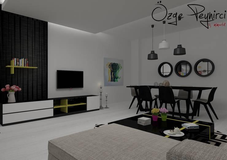 Living room by Deniz Gökçe Mimarlık ve İnşaat