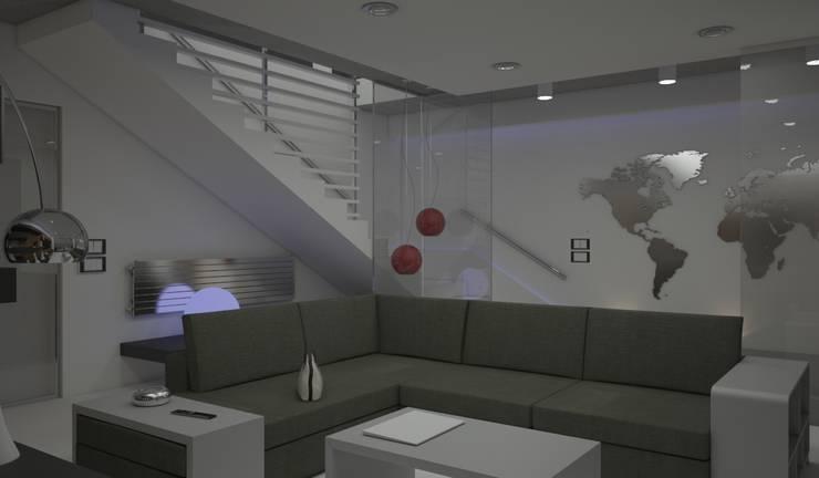 Minimalist corridor, hallway & stairs by diparmaespositoarchitetti Minimalist