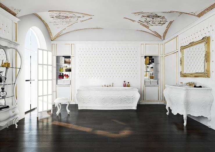 Aranżacja łazienki w stylu lat '700: styl , w kategorii Łazienka zaprojektowany przez Bianchini & Capponi,