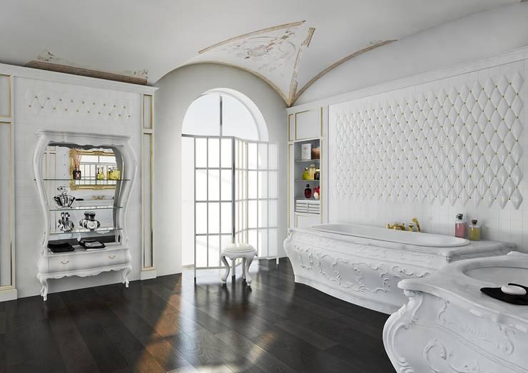 Aranżacja łazienki w stylu lat '700: styl , w kategorii Łazienka zaprojektowany przez Bianchini & Capponi