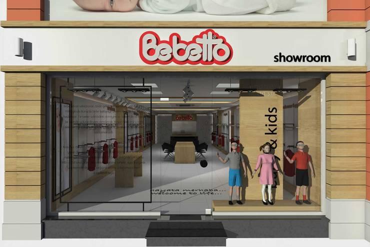 SEFA ÇAPRAZ MİMARLIK İNŞAAT – Bebetto - Showroom:  tarz Ofisler ve Mağazalar, Modern