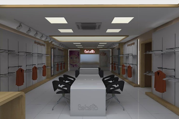 SEFA ÇAPRAZ MİMARLIK İNŞAAT – Bebetto – Showroom:  tarz Ofisler ve Mağazalar, Modern