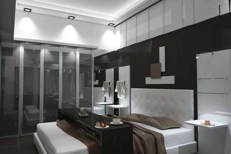 Schlafzimmer von diparmaespositoarchitetti