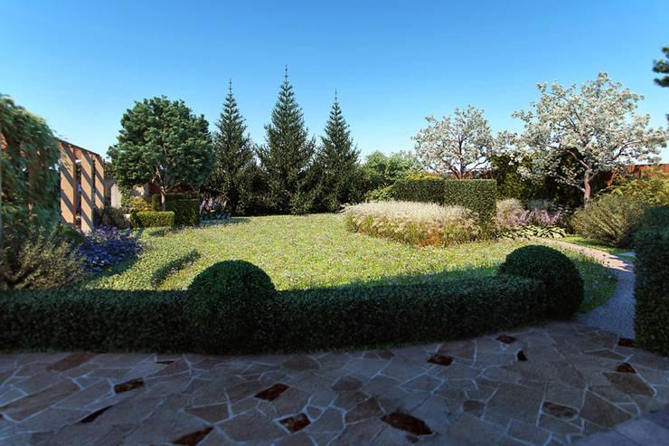 Вид из дома: Сады в . Автор – Руслан Михайлов rmgarden,
